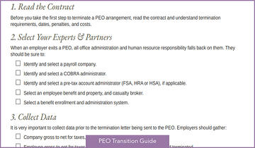 PEO Transition Guide Teaser
